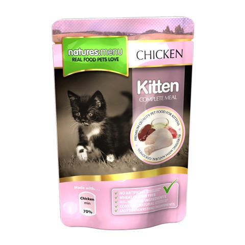 Natures Menu Kitten Pouch With Chicken 12 X 100g