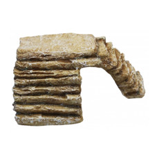 Komodo Corner Basking Ramp/hide - Sandstone Large
