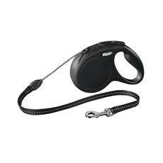 Flexi Classic Extending Cord Dog Lead Black Small To Medium